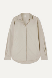 Totême Lago oversized cotton-poplin shirt