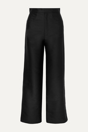 Totême Flair cropped woven wide-leg pants