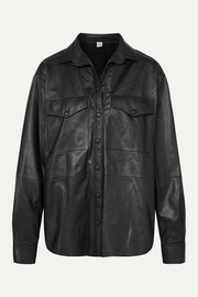 Totême Novella leather shirt