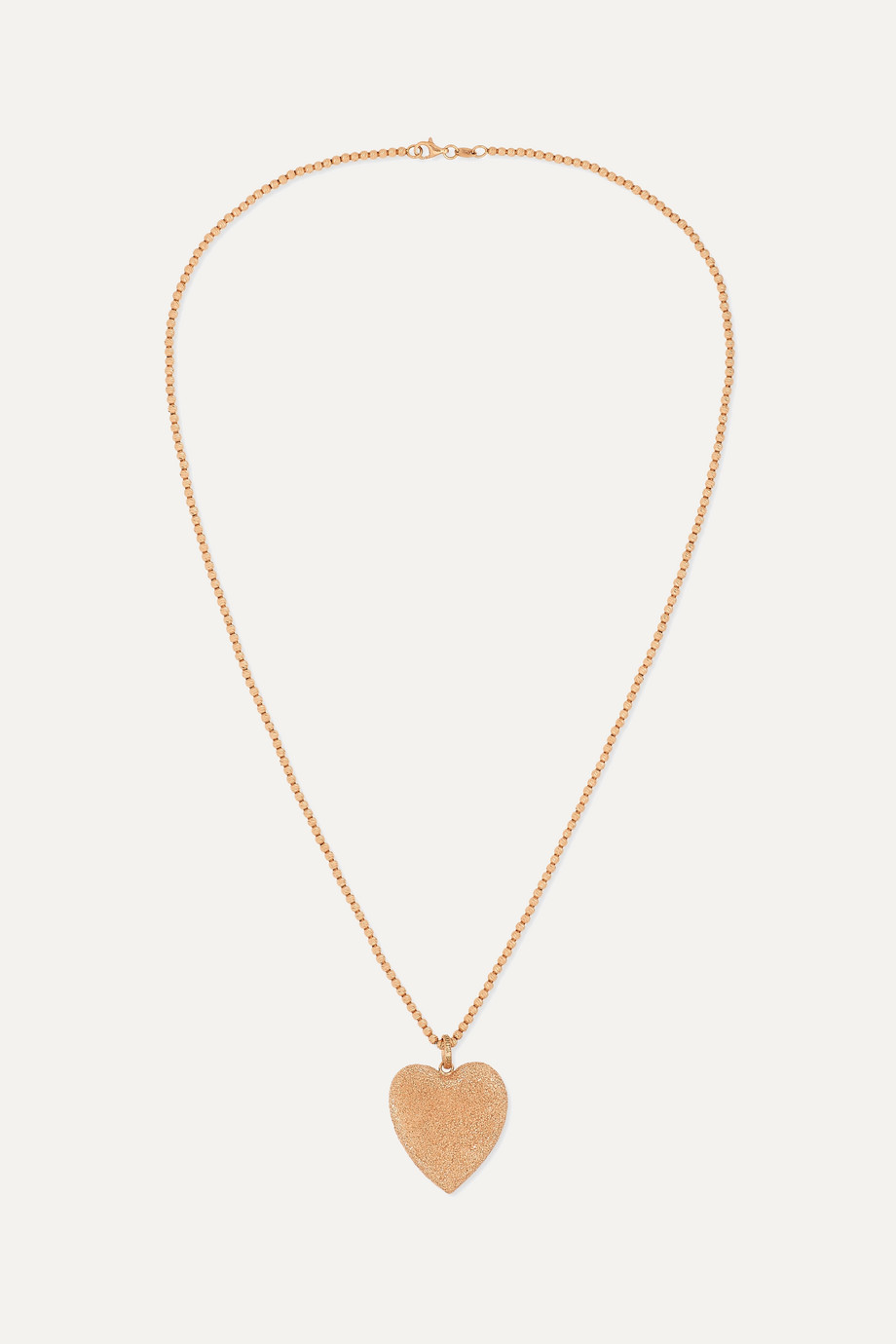 Carolina Bucci Florentine 18-karat rose gold necklace