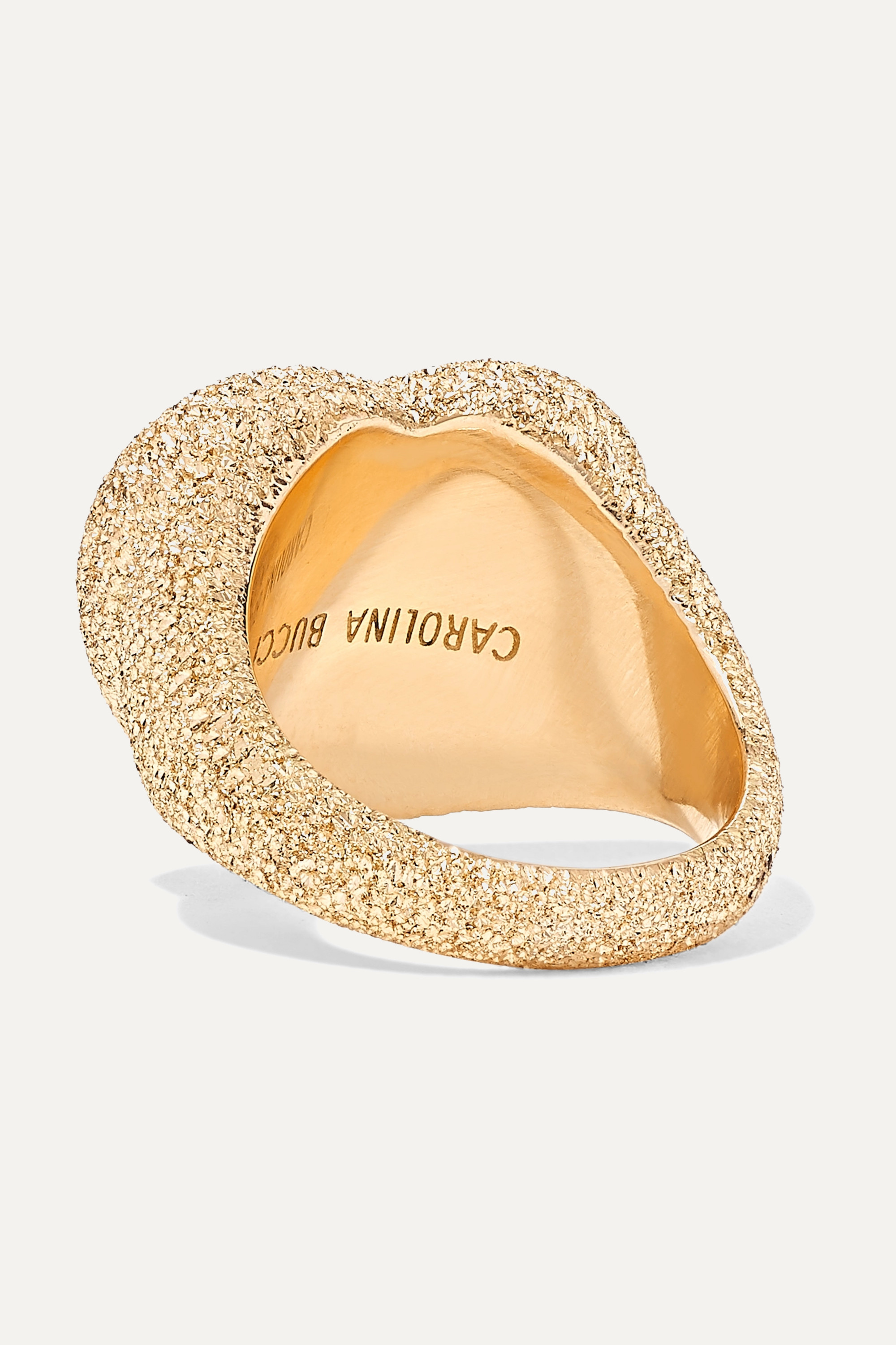 Carolina Bucci Ring aus 18 Karat Gold mit Diamanten