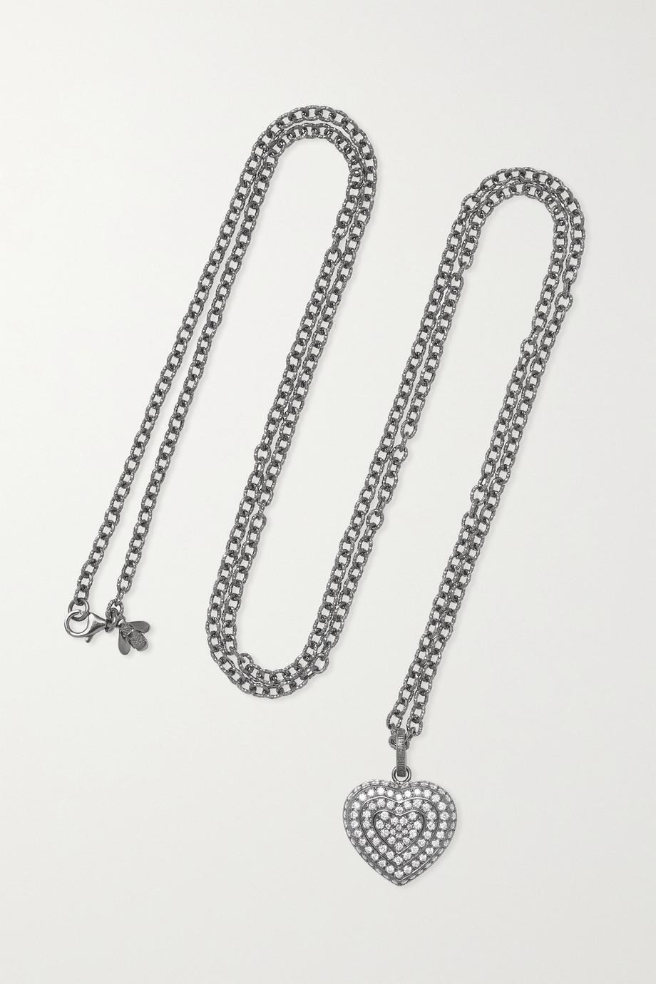 Carolina Bucci 18-karat blackened gold diamond necklace