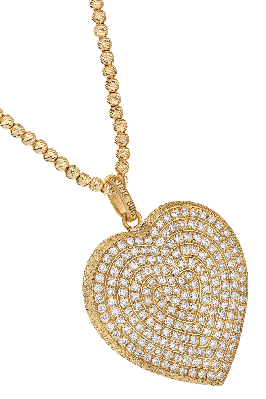 Carolina Bucci Florentine 18-karat gold diamond necklace