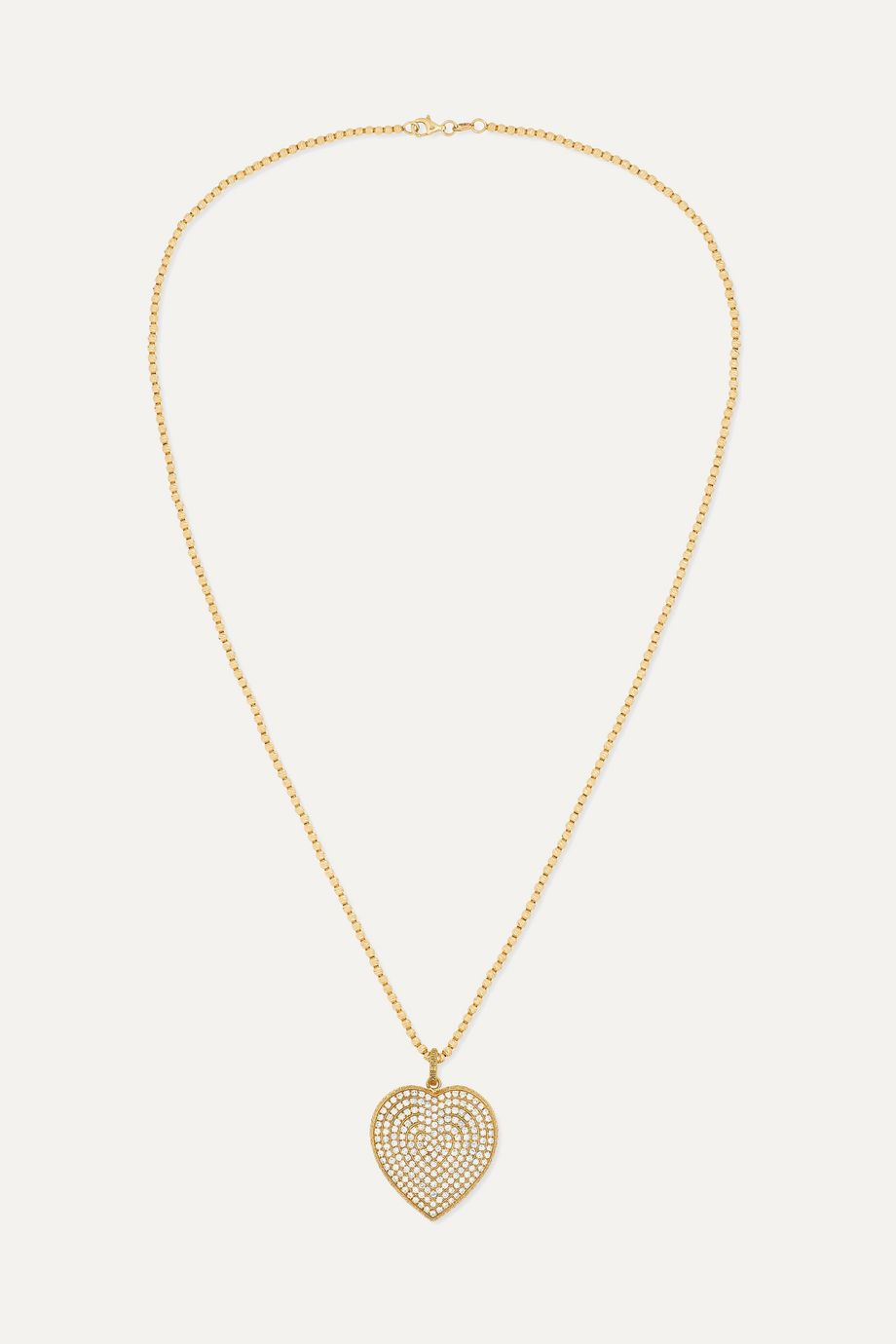Carolina Bucci Florentine 18-karat gold diamond necklace