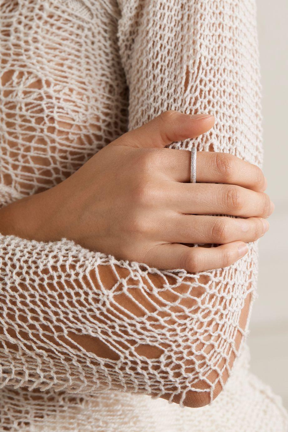 Carolina Bucci Florentine 18-karat white gold ring