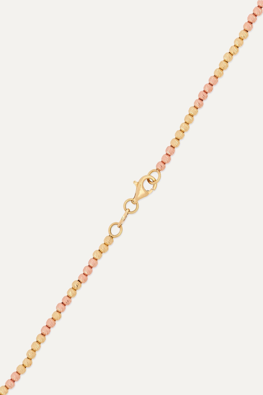 Carolina Bucci Disco Ball 18-karat yellow and rose gold necklace