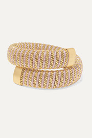 Carolina Bucci Caro 18-karat gold-plated and Lurex bracelet