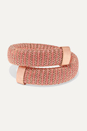 Carolina Bucci Caro rose gold-plated, cotton and Lurex bracelet