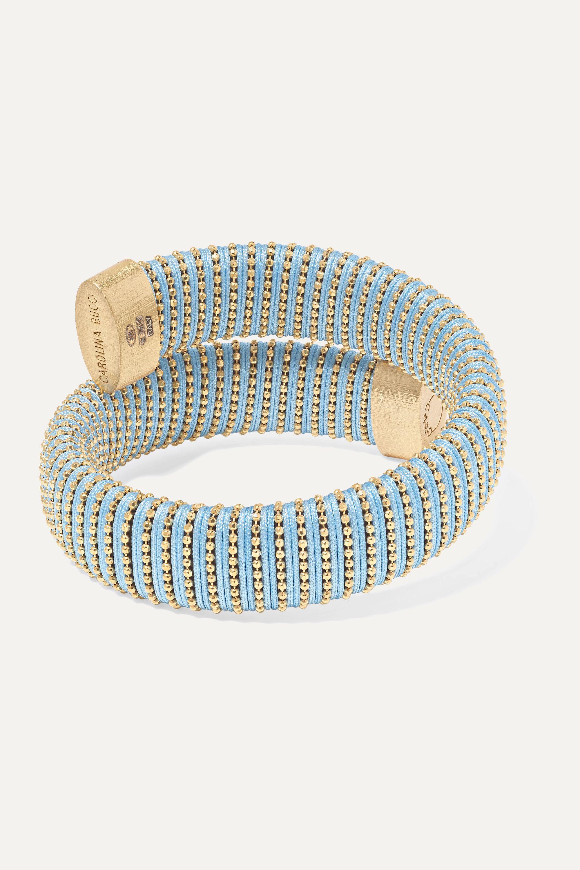 Carolina Bucci Caro gold-plated and cotton bracelet