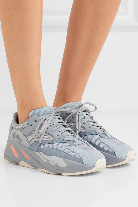 Yeezy Boost 700 suede, leather and mesh sneakers