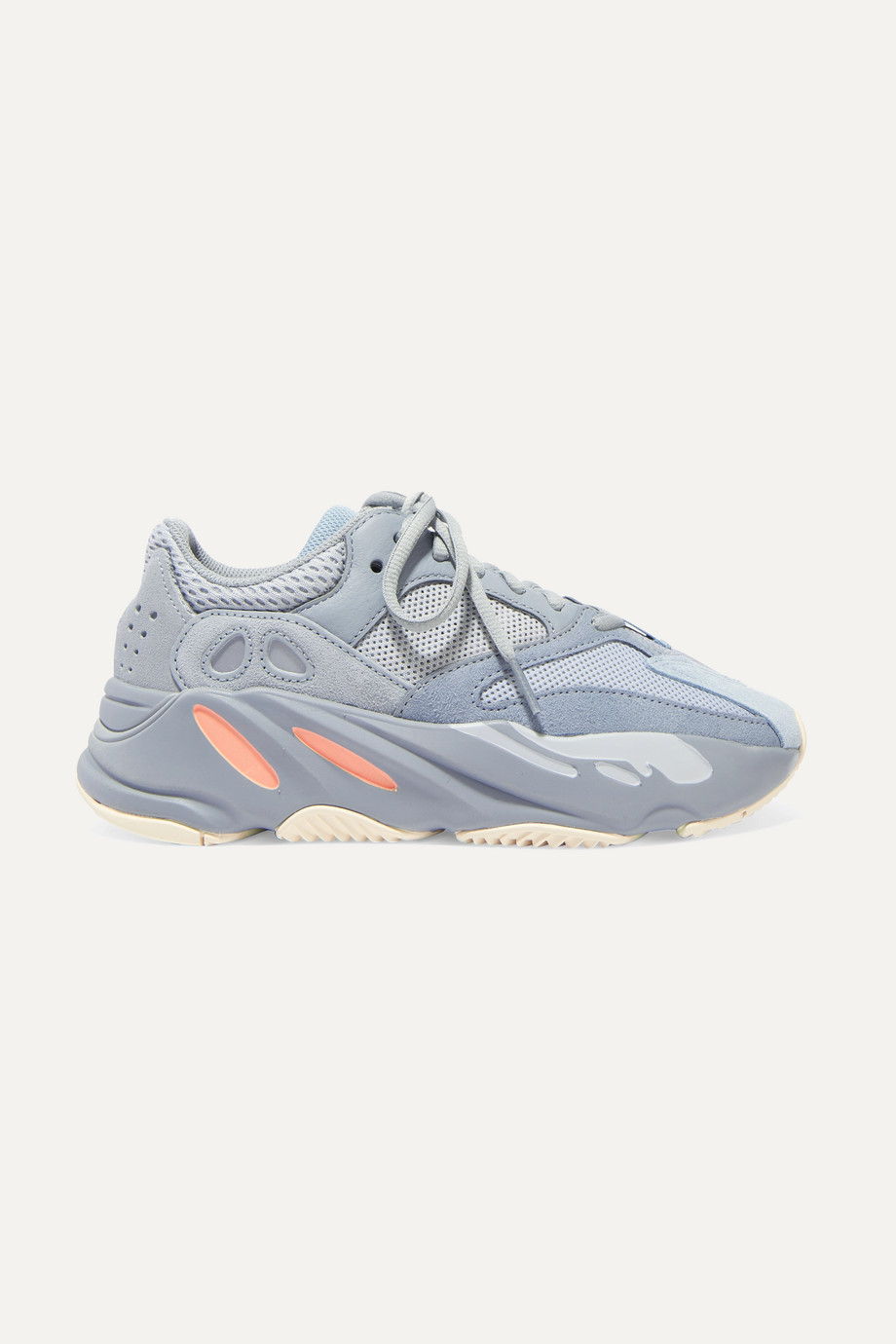 Exact Product: Yeezy Boost 700 V2 Static Wave Runner Sneakers, Brand: Adidas, Available on: net-a-porter.com, Price: $300