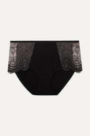 Maison Lejaby Tattoo embroidered stretch-mesh briefs