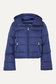Perfect Moment Polar Flare hooded quilted down ski jacket
