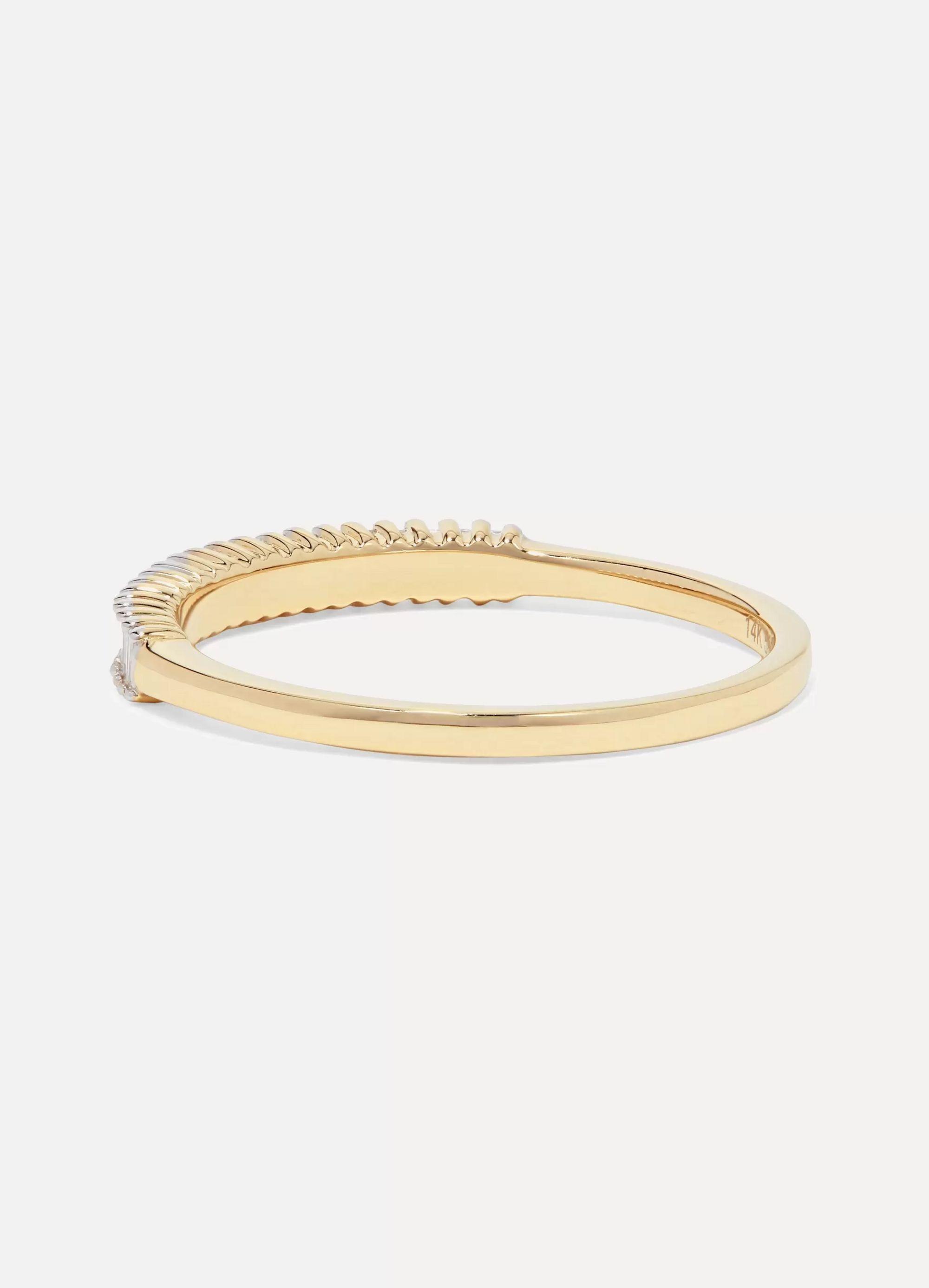 STONE AND STRAND 14-karat gold diamond ring