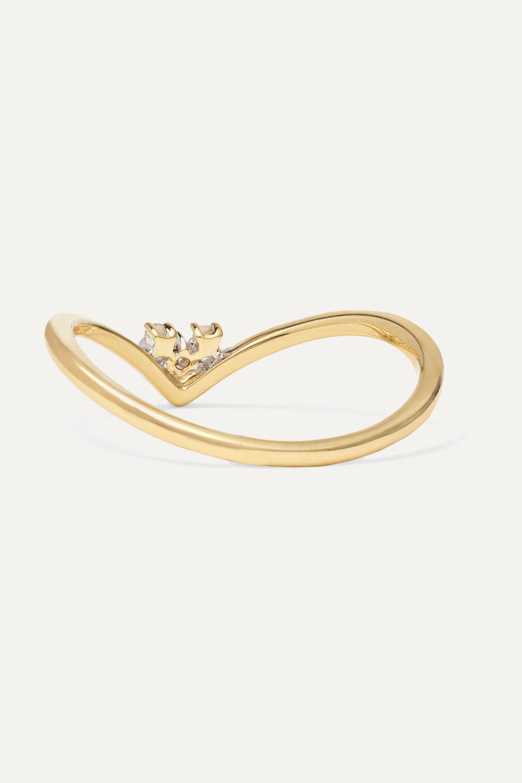 STONE AND STRAND 14K 黄金钻石戒指
