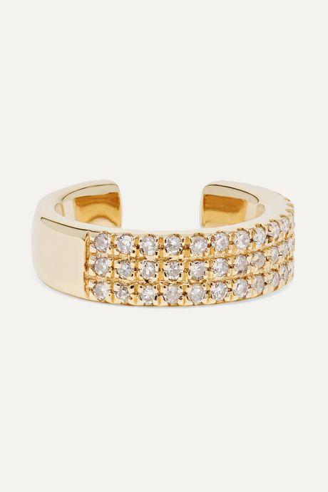 Gold Gold diamond ear cuff   STONE AND STRAND Qs1GXF