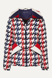 Perfect Moment Apres Duvet houndstooth quilted down ski jacket