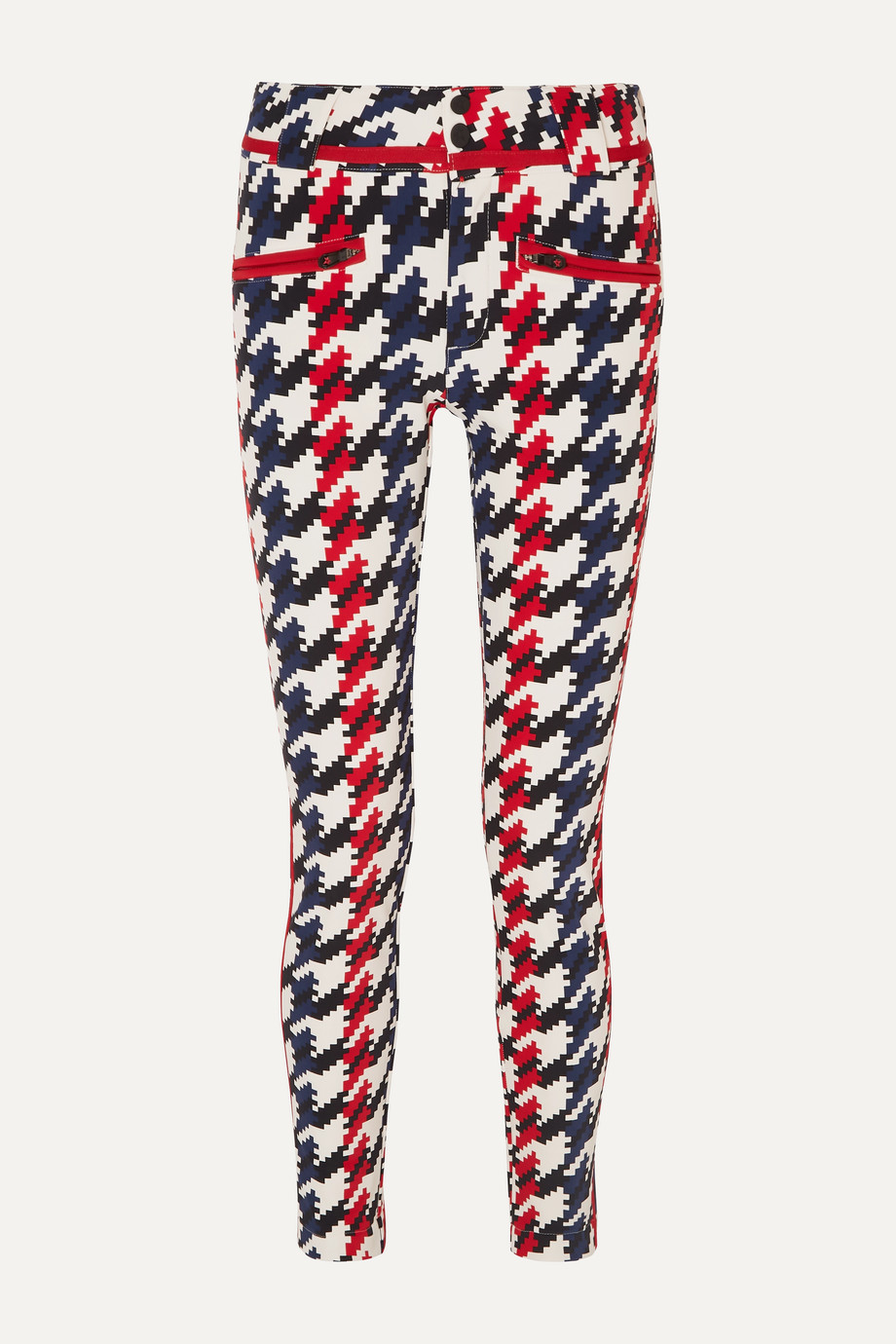 Perfect Moment Aurora II houndstooth slim-leg ski pants