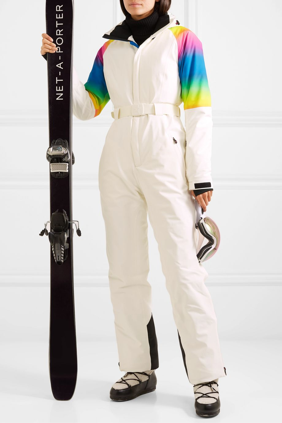 Perfect Moment Chamonix hooded printed padded ski suit