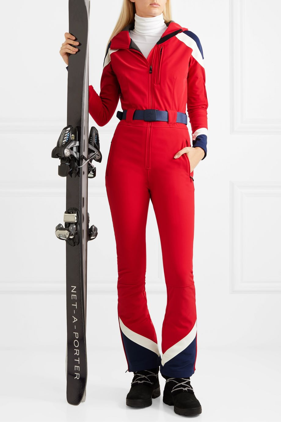 Perfect Moment Allos belted color-block ski suit