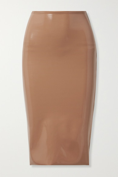 Faux Stretch Patent Leather Skirt by Commando