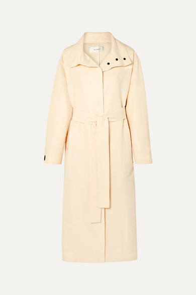 panae-silk-and-cotton-blend-trench-coat by the-row