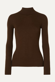 The Row Sulli ribbed silk and cotton-blend turtleneck sweater