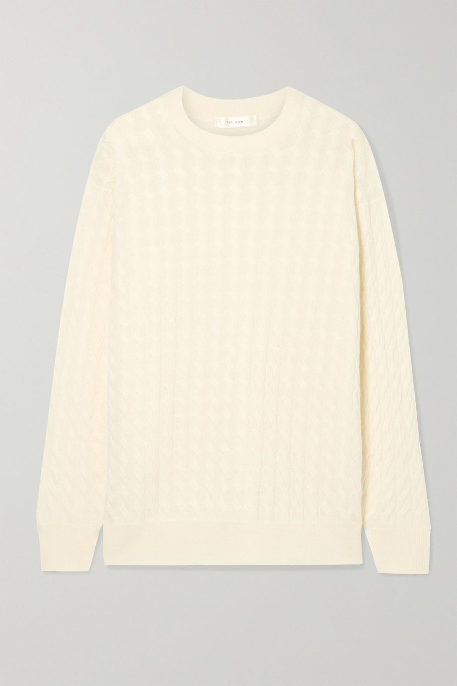 The Row Minorj cable-knit cashmere and silk-blend sweater