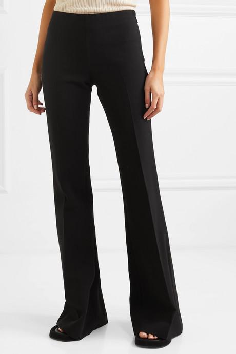 Lanae wool-blend flared pants