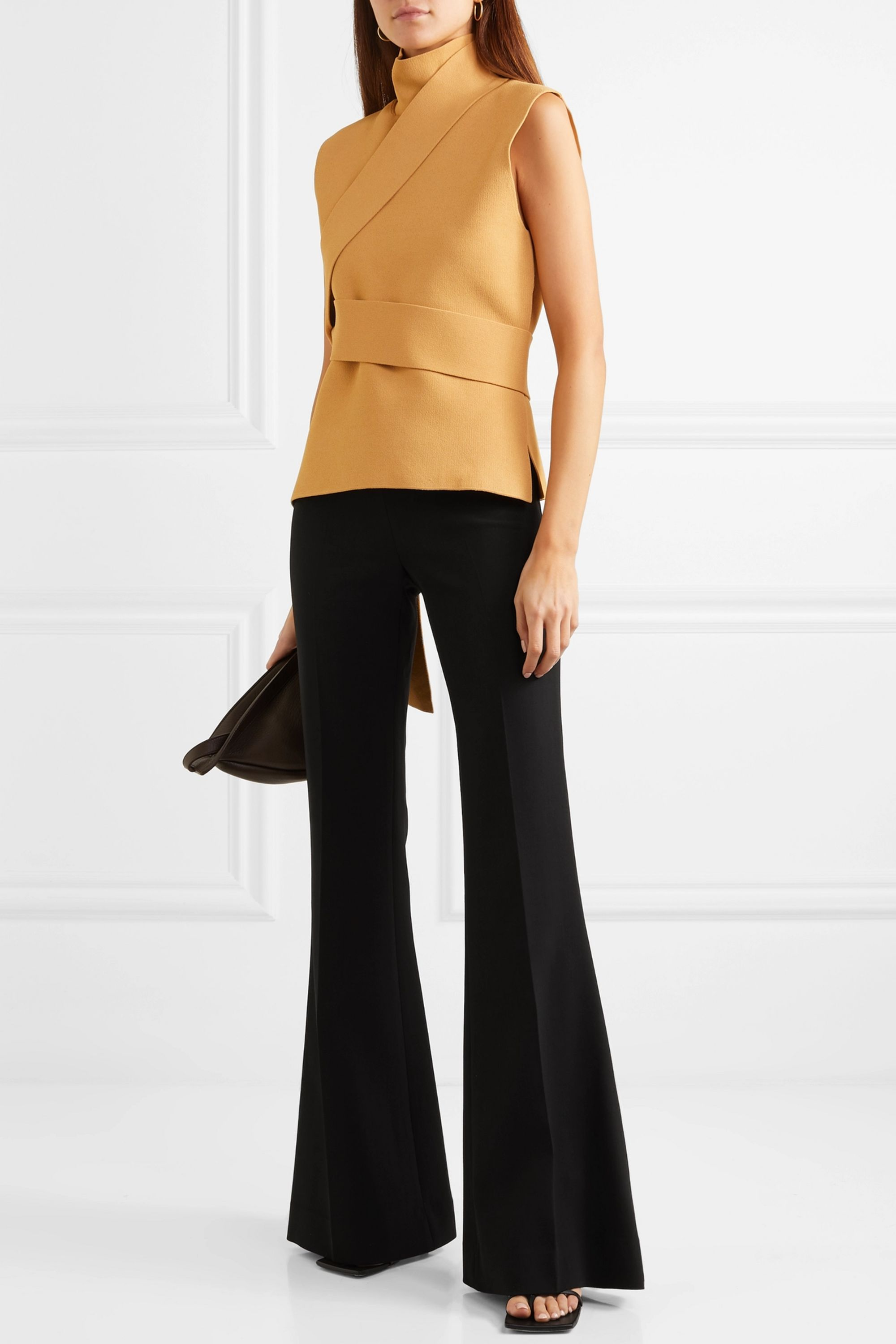 The Row Lanae wool-blend flared pants