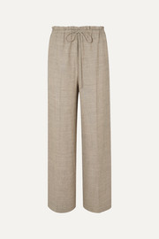 The Row Wool and silk-blend wide-leg pants