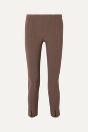 The Row Sorocco cropped stretch-wool skinny pants