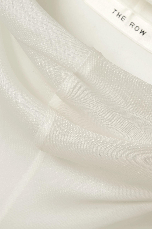 The Row Mora silk-organza turtleneck top