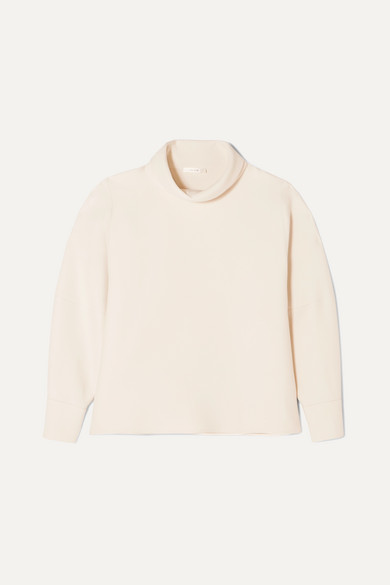 makie-wool-and-silk-blend-turtleneck-blouse by the-row