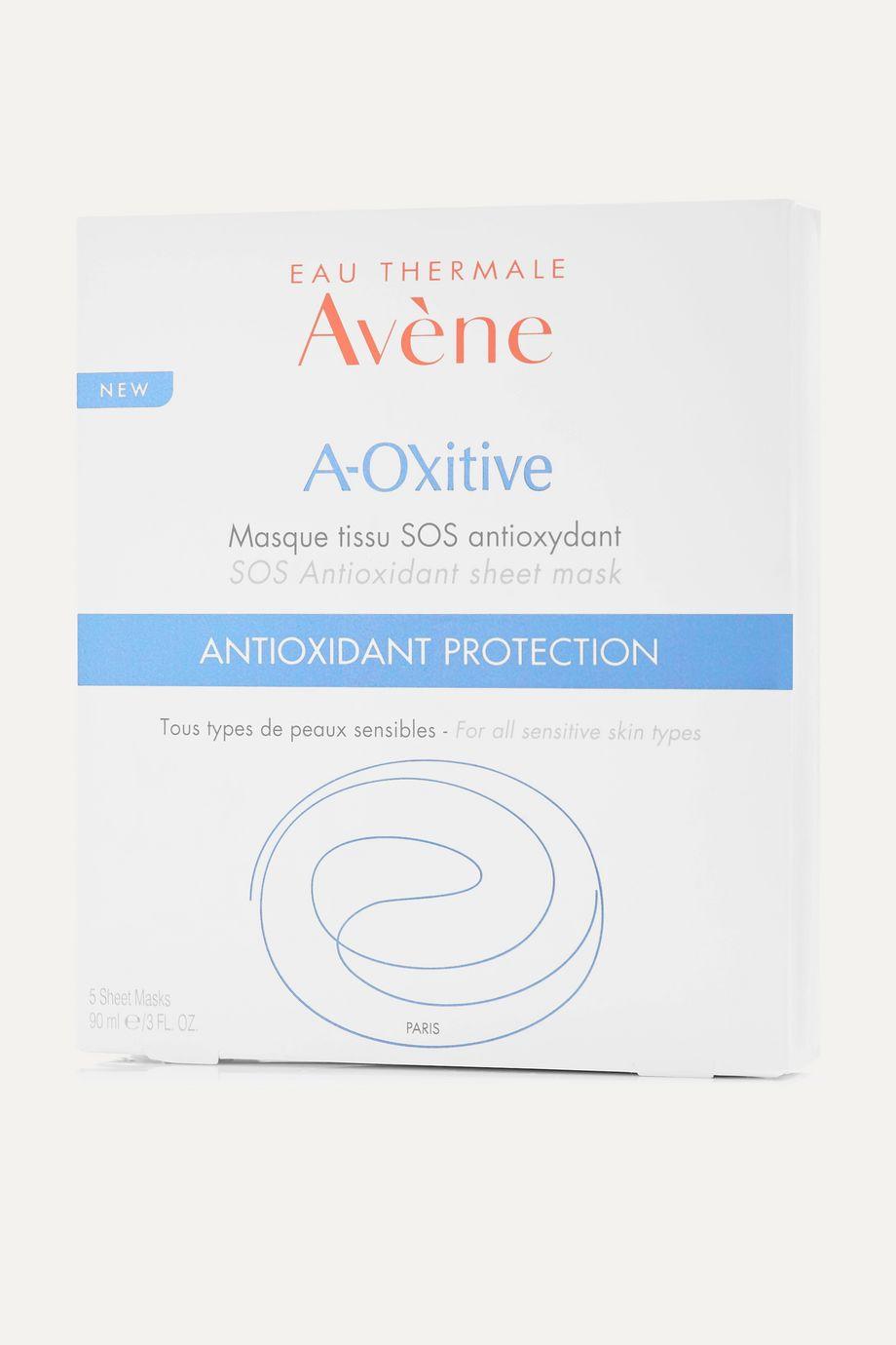 Avene A-Oxitive SOS Antioxidant Sheet Mask, 5 x 18ml