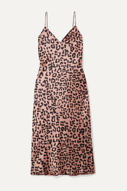 Cami NYC The Raven leopard-print silk-charmeuse dress