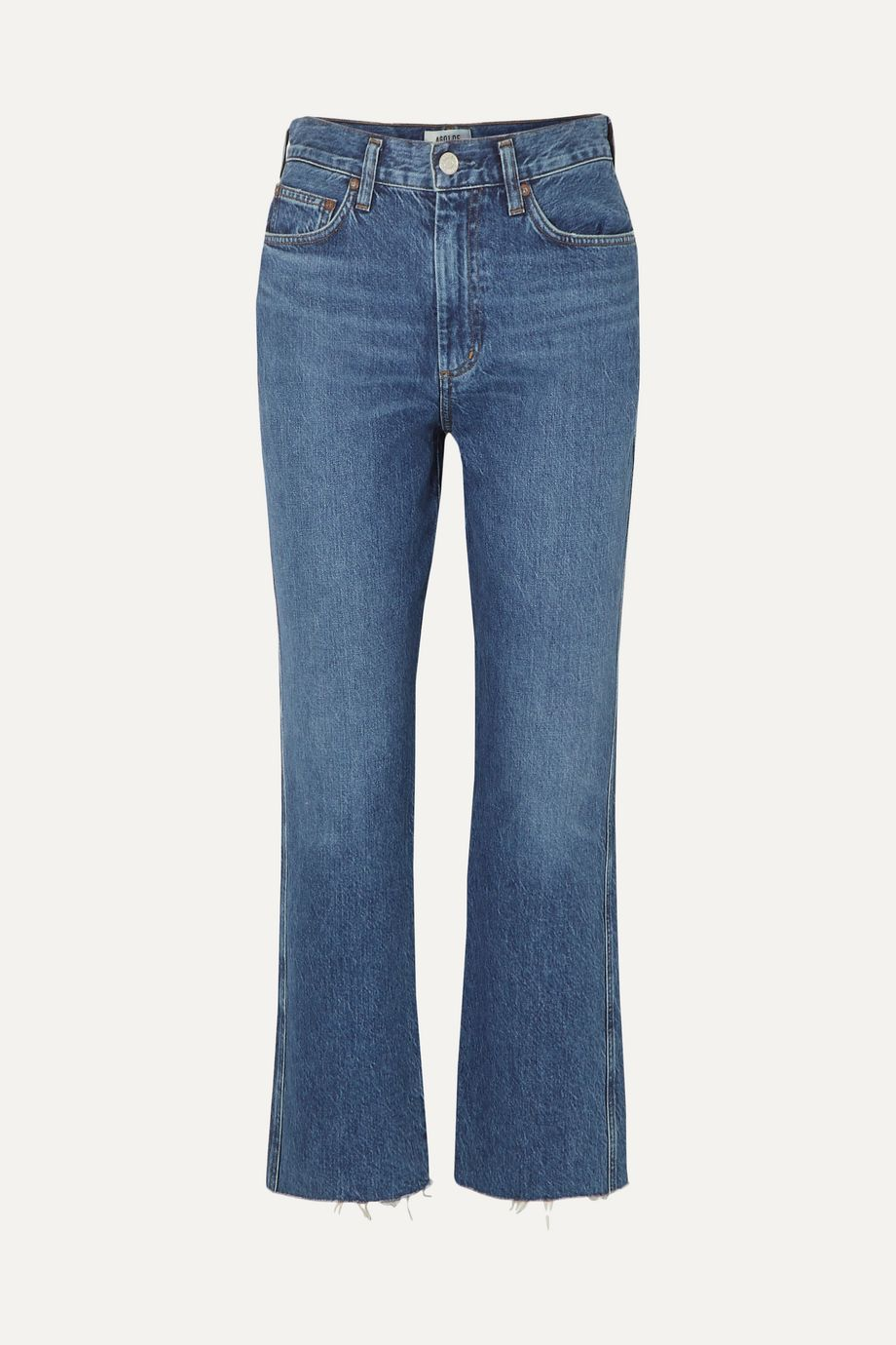 AGOLDE Pinch Waist cropped organic high-rise flared jeans
