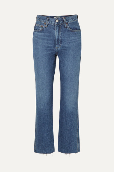 Agolde Jeans Pinch Waist cropped organic high-rise flared jeans