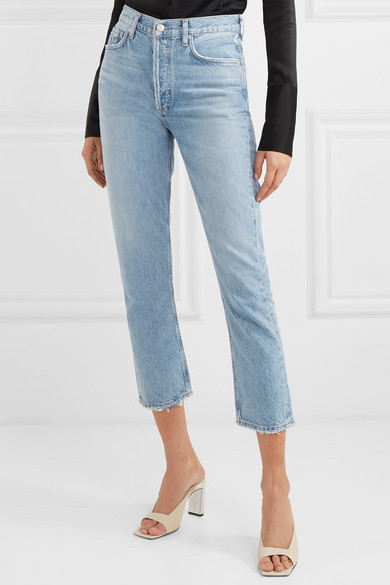 Agolde Jeans Riley cropped organic high-rise straight-leg jeans
