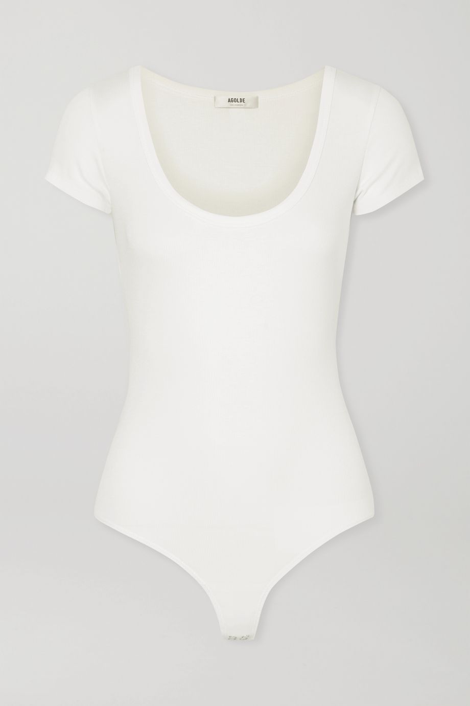 AGOLDE Ribbed stretch-jersey thong bodysuit