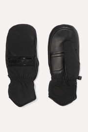 Petula padded leather and shell mittens