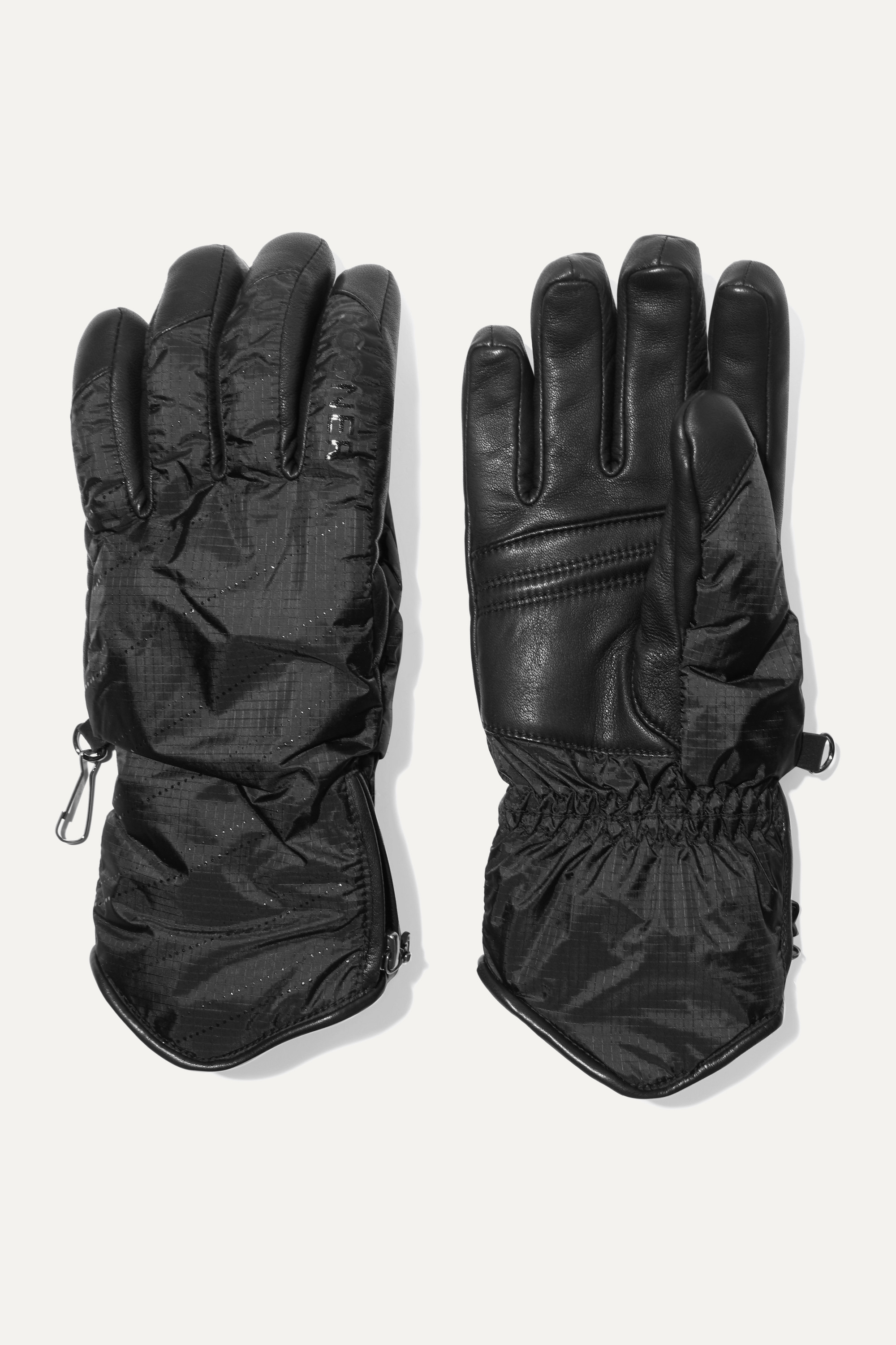 Bogner Baca padded leather and shell ski gloves
