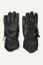 Baca padded leather and shell gloves
