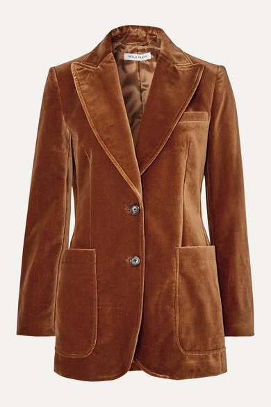Bella Freud Blazers Saint James cotton-velvet blazer
