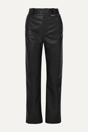 Commission Faux-leather straight-leg pants