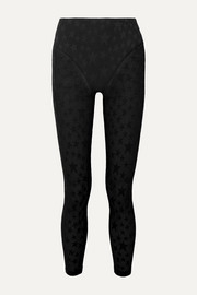 Stretch-jacquard leggings
