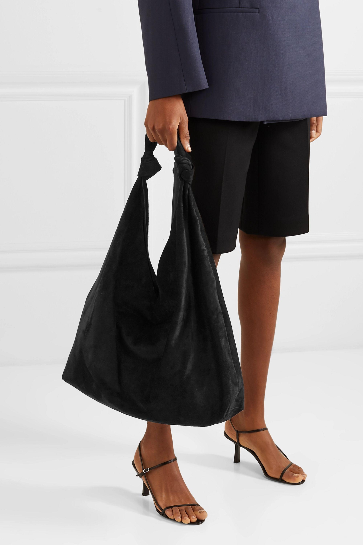 The Row Bindle Double Knots suede shoulder bag