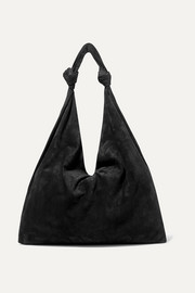The Row Bindle Double Knots suede shoulder bag