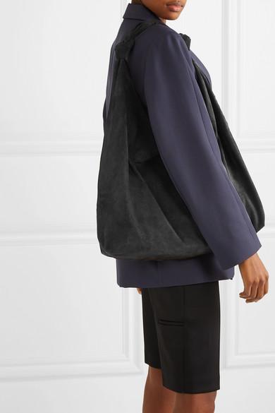 0383b8c468c The Row. Bindle Double Knots suede shoulder bag