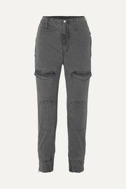 Harlan stretch-cotton twill tapered cargo pants